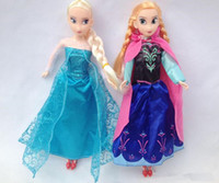 Cheap Frozen Elsa Anna Sparkle Princess Dolls Figure Toys 11 inch with Nice retail box package Baby Children toys Empress Elsa free dhl shipping