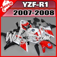 Wholesale Welmotocom Aftermarket Injection Mold Fairing For Yamaha YZFR1 YZF R1 YZF R1 Red White Black Y17W73 Free Gifts