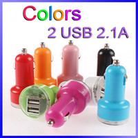 Wholesale Colorful Mini Car Charger Cigarette Chargers Micro Dual USB Adapter Flash Nipple Dual USB Port For Iphone Samung