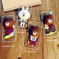 bear design bags - TPU iPhone case cartoon waterproof phone cases for iphone S with cellphone holder rabbit bear design with earphone storage bag