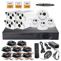 Wholesale 8pcs P MP Array IR Bullet Dome Metal Cameras CH AHD DVR System