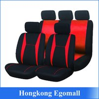 Wholesale US Stock Universal Red and Black Car Seat Covers Pieces Front and Back Seat