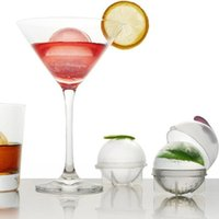 Wholesale BIG size spherical ice mould DIY mini ice ball tray spheres DIA CM set of packs
