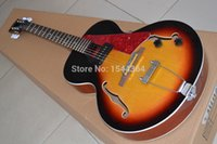 archtop guitar - 2015 NEW guitar ES Archtop Guitar Sunburst ES125 Electric Guitar with red pearl pickguard