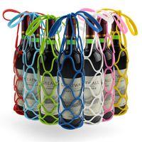 Wholesale Multi Purpose Silicone Mesh Wine Bag Wine Handbag Silicon Heat Pad Slip Resistant Mats Bar Tools Colorful Newest