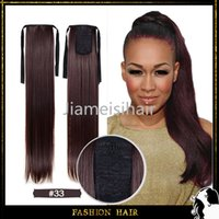 ponytail extensions - Fashion Ponytail Hair Extensions Auburn Color quot cm g Long Straight Hairpiece Heat Rsistance Ponytail Hair Extention