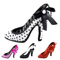 Jewelry Boxes jewelry shoe holder - High Heel Shoe Ring Holder color choose Bow Tie Wedding Favor Holder Decorations Jewelry Display Stand Earring Stud Organizer