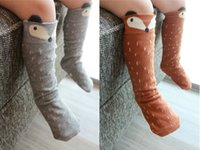 cotton leggings - Baby Cotton Knee High Fox Socks Animal Leg Warmers Girl Legging Socks Girls Children s Socks Cotton Little Fox Stereo Ear Stockings