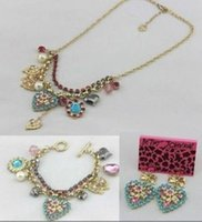 shell necklace and earring - New Betsey Johnson Fashion Jewelry Heart Necklaces Bracelets and Earrings
