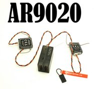 Wholesale Spektrum AR9020 Digital Spread Modulation AND X Channel CH Receiver With Two Satellites X Plus DX7S DX18 DX10T DX8 DX9 SPMAR9020