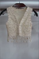 Wholesale Princess Cheap Sexy Lace Wedding Accessories Coats Shawl Formal Tippet Cape Jackets Long Vest Bridal Wraps Champagne For Party Evening