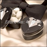 Cheap Bride groom Mint tin wedding favor box 600PCS LOT free shipping dressed to the nines wedding candy box