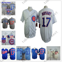Cheap Kris Bryant Jersey, Cheap Chicago Cubs 17# Baseball Jersey, Stitched High Quality Beige Blue Gray Green White