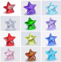 Wholesale high quality Transparent Crystal mixed color mm Birth stone star shape DIY charms for floating locket