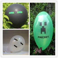 Wholesale Minecraft Creeper Balloons New Birthday party Decoration Good Balloons Toys Cartoon Enderman inch Party material Factory Price