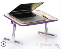 Cheap Wholesale - free shipping 2014 new aluminum folding lounger with fan laptop desk computer desk bed multi-color