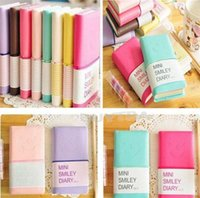 paper notebook - New Candy Colors Fashion Cute Charming Mini Portable Smile Smiley Paper Diary Notebook Memo Note Book