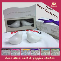white wedding gifts for guests - Wedding gifts for guests love birds ceramic salt and pepper shakers for party favors SET