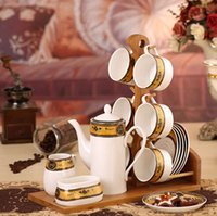 ceramic cup and saucer - Fashion beautiful ceramic coffee tea cup saucer and teapots suit