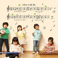 PVC art music quotes - 1Set Black DIY Music Note Removable Vinyl Quote ART Wall Sticker Decals Mural Decor