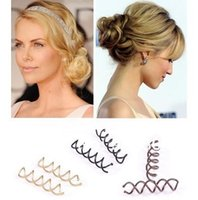 Wholesale Hot Selling Set Fashion Womens Spiral Spin Screw Pin Hair Clip Twist Barrette Ladies Girls Hair Accessories
