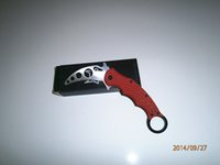 Folding Blade China  2014New Fox Karambit Training Folding blade knife Red G10 Handle Fox practice knife knives