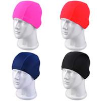 Wholesale Unisex Elastic Waterproof Swimming Cap Hat for Men Women Hair Care Protect Ears Sports Pool Swim Cap One UL0005 Kevinstyle