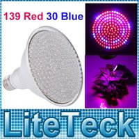 Wholesale New w E27 Par Led Grow light Hydroponic Green Plant Flowers Vegatables Grow Lights Growing Lamp AC V Red Blue