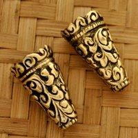 beads creations - Tibetan Jewelry BC03 Tibetan Handmade Brass mmx23mm Bead Caps Nepal Creations
