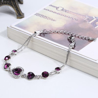 american poetry - Factory direct sales of new poetry Korean American Jewelry three Heart Crystal Rhinestone Bracelet Jewelry Jewelry