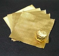Wholesale gold chocolate wrapping tin foil covered cm chocolate candy aluminum foil Embossing paper