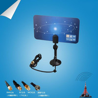 tv antenna - Hot with Retail packaging Digital Indoor TV Antenna HDTV DTV HD VHF UHF Flat Design High Gain New Arrival TV Antenna Receiver V560