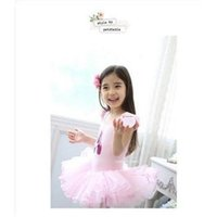 ballet dance costumes - New Pink Kids Girls Leotard Ballet Tutu Dance Costume Princess Dress Y plus size summer dresses baby clothes kids clothes HOT SALE