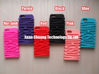 Wholesale 3D Cute Silicon Protective Cases Covers Skiins Housings Shields for iPhone S C with Freeshipping