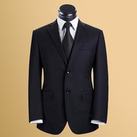 Wholesale CUSTOM MADE MEN SUITS TAILOR MADE DARK BLUE MENS WEDDING TUXEDOS FOR MEN SLIM FIT BLUE MEN SUITS high quality two bottons
