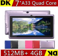 Wholesale 1PCS NEW inch Capacitive Allwinner A33 Quad Core Android dual camera Tablet PC GB MB WiFi EPAD Youtube Facebook