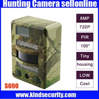 Wholesale 2015 Original S690 Hunting Camera Infrared Wild Life Video Camera Inch TFT Screen P nM Invisible IR Hunting Trail Cameras Freeship