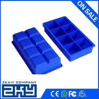 Wholesale Food grade silicone large Monster ice cube tray holes square silicone ice cube tray square shape silicone ice cube tray