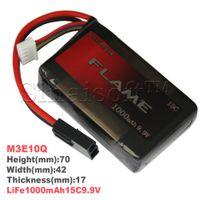 Wholesale HK Post Orginal Flame V mAh C LiFePO4 Rechargeable Battery For PEQ Box AEG Airsoft Battery M3E10Q