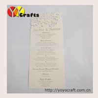 aerial services - Customized laser cut menu cards table cards invitaiton cards printing service