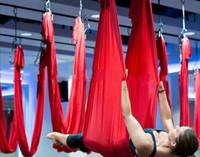 Wholesale step certificate Aerial Yoga Hammock Yoga Equipment nylon Yoga Stripes