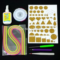 Wholesale Origami DIY Set Colored Origami Quilling Paper Charm Folding Paper Craft With Tools
