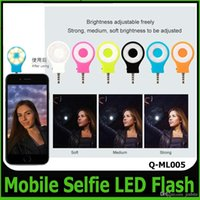 Wholesale Newest RK07 Night Using Smart Phone Autodyne LED Selfie Enhancing Flash Light For iPhone IOS Sumsung Android Cell phone Camera OM CD7