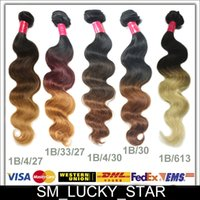Loose Wave human hair extension - Top Quality Brazilian Hair Ombre Hair Wefts Body Wave Human Hair Extensions Weaves inch A B