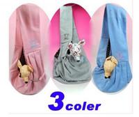Wholesale Reversible Puppy Pet Dog Cat Sling Carrier Single shoulder Sling Pink Cloth Bag Tote
