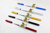 Wholesale High Quality MEIYU Colors Mini Aluminum Pocket Sea Pen Fishing Rods Pole Reel retail package