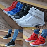 cotton fabric uk - 2014 New Men s High Top Sneakers Velcro Skateboard Ankle Boots Casual Shoes UK