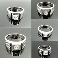 mens jewelry lot - Mens Jewelry Stainless Steel Beauty Gold a of Crystals Mens Ring USA Size