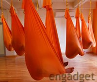 Cheap Omitree Deluxe 5.5 Yards Elastic Decompression Inversion Therapy Anti-Gravity Yoga Swing Aerial Yoga Hammock Flying Yoga Strap 2000 Lb 00685