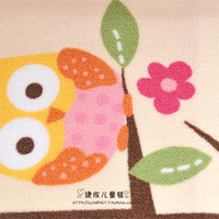 Wholesale Children carpet embroidery cartoon owl flowers nylon Crawling blanket size cm baby blank